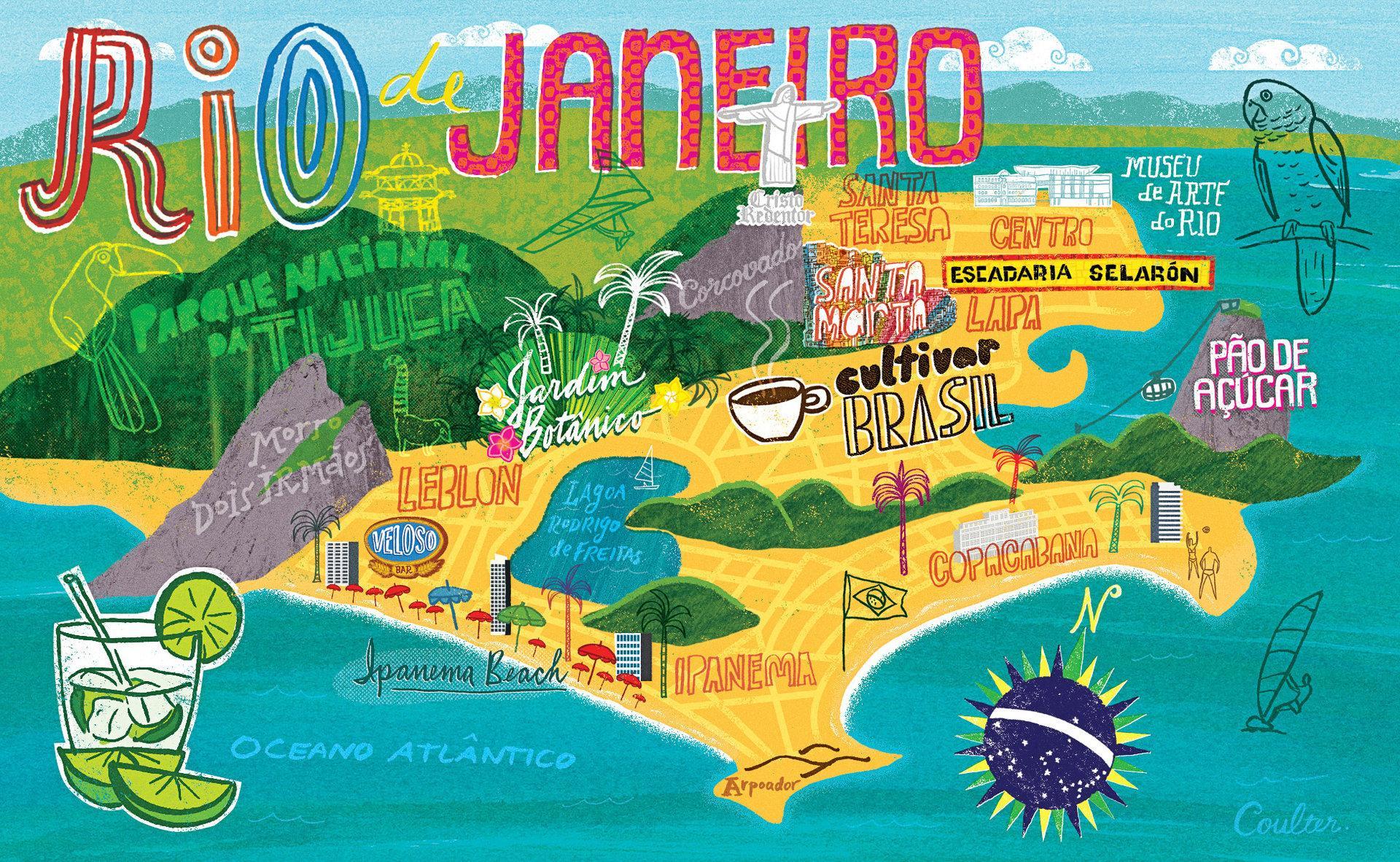Rio De Janeiro Wallpaper Map Map Of Rio De Janeiro Wallpaper - Rio de janeiro map