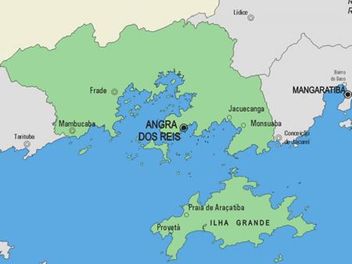 Map of Angra dos Reis municipality