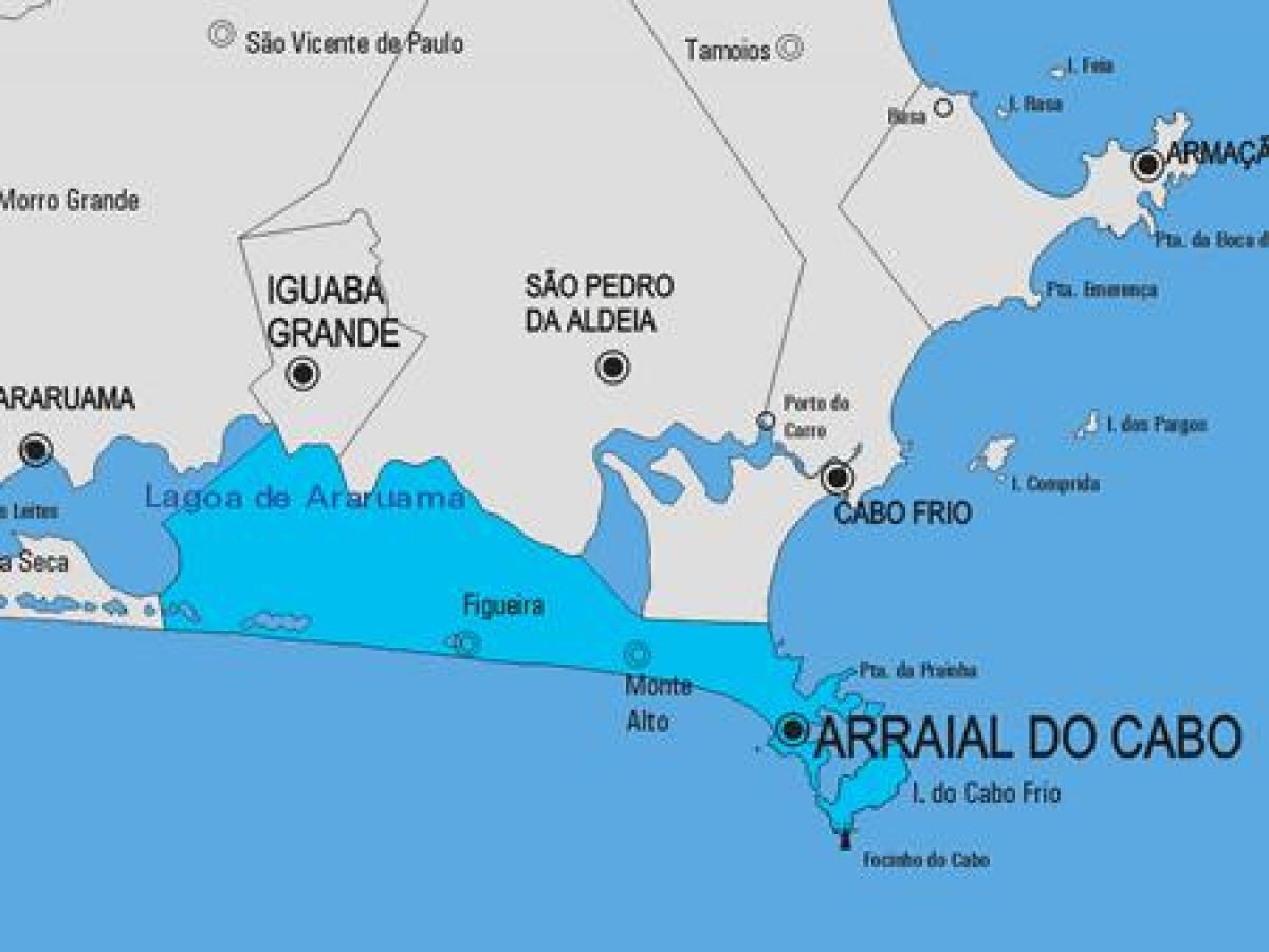 Map of Arraial do Cabo municipality