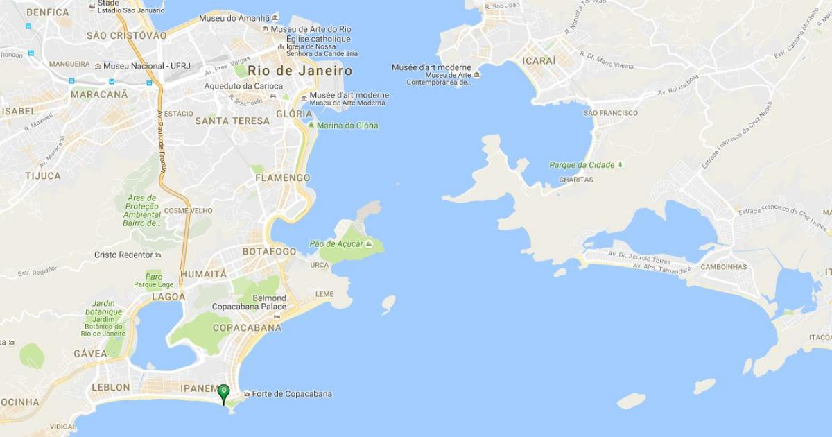 Map of beach Arpoador