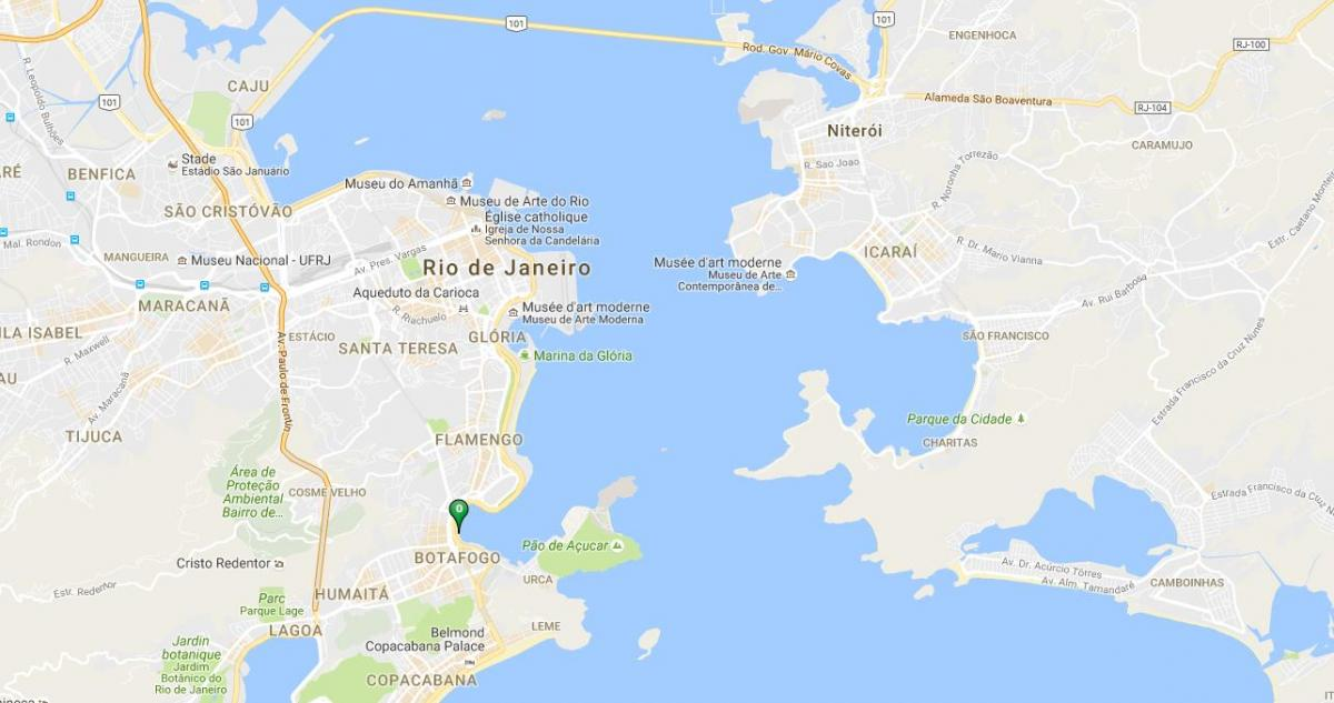 Map of beach Botafogo
