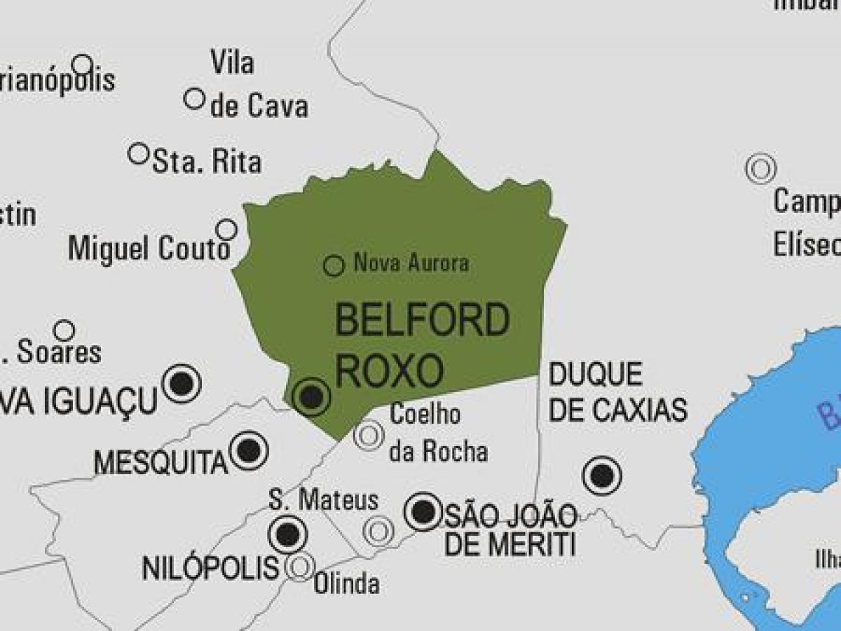 Map of Belford Roxo municipality
