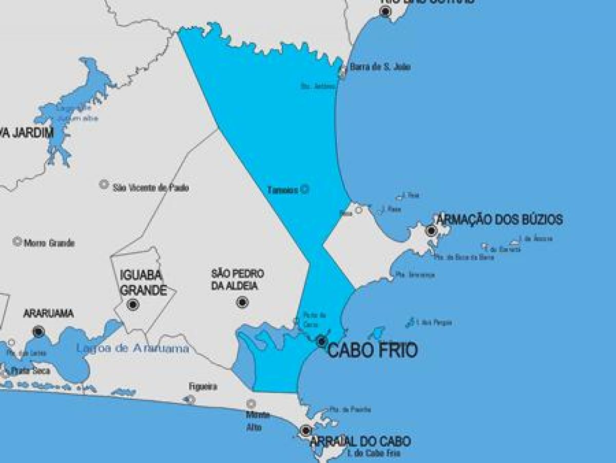 Map of Cabo Frio municipality