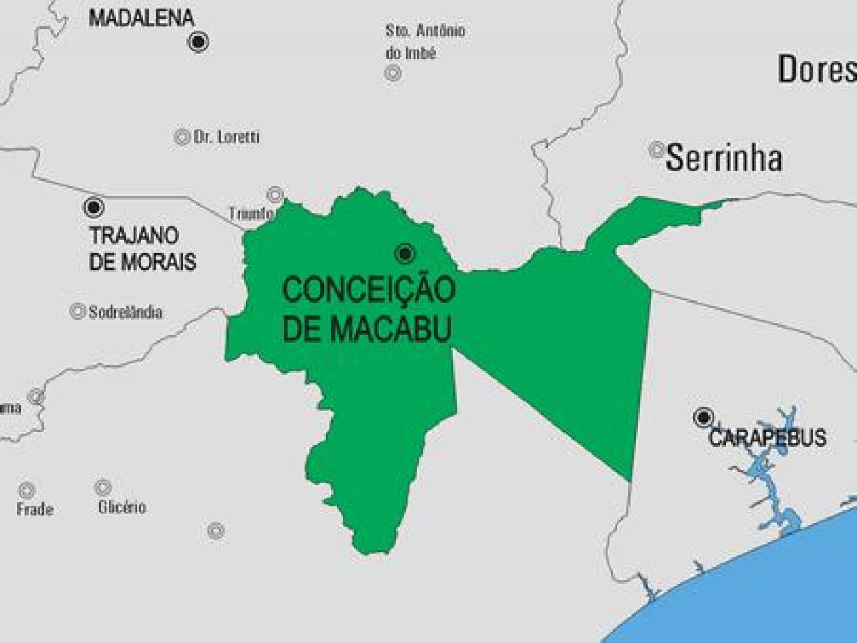 Map of Conceição de Macabu municipality
