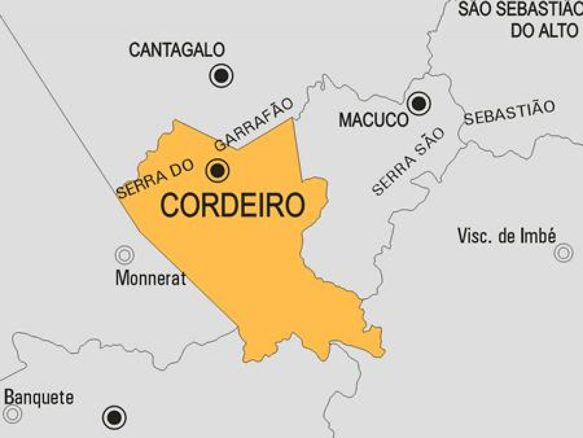 Map of Cordeiro municipality