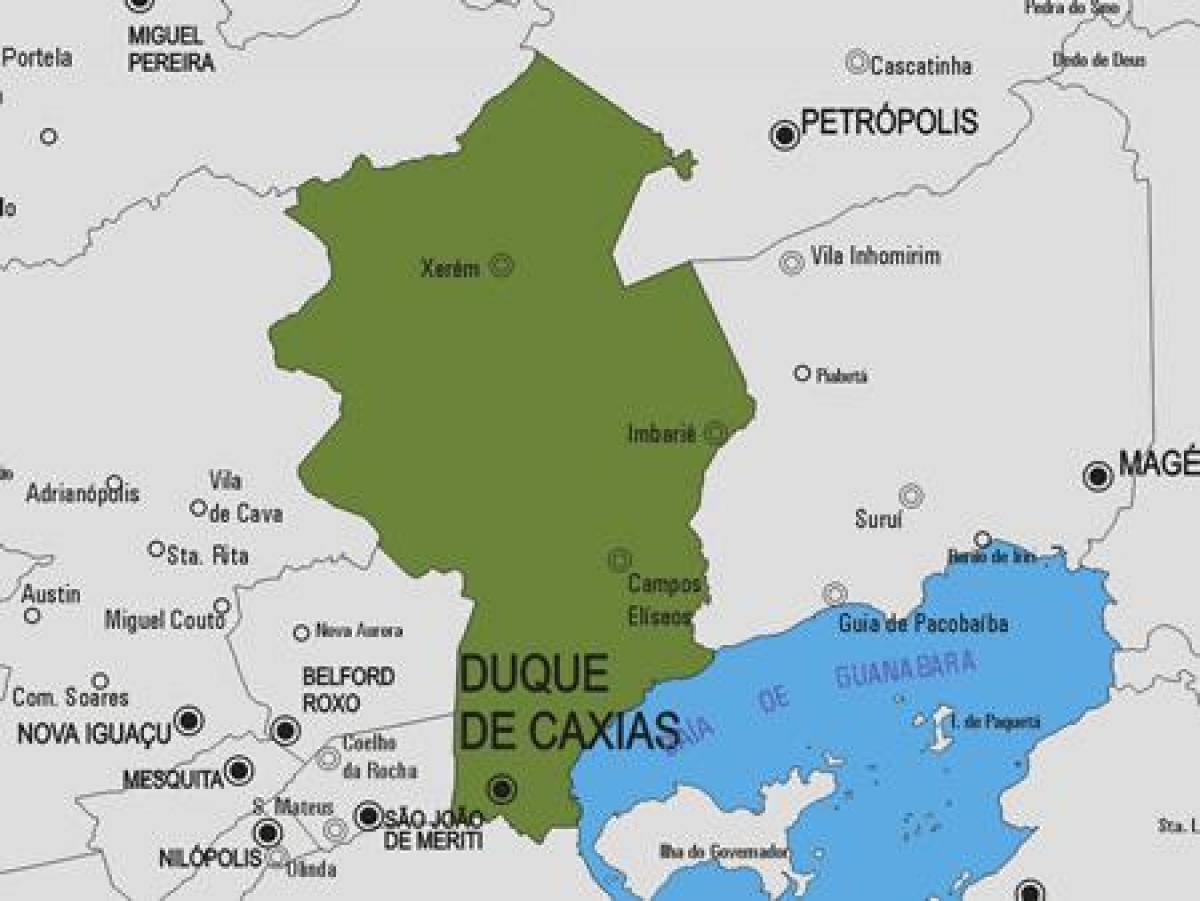 Map of Duque de Caxias municipality