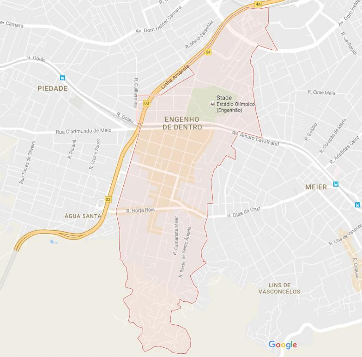 Map of Engenho de Dentro