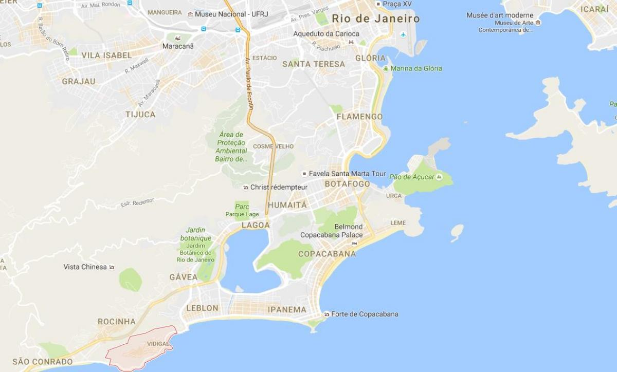 Map of favela Vidigal