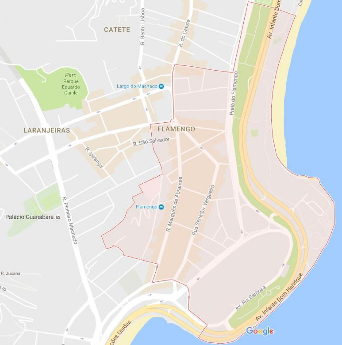 Map of Flamengo