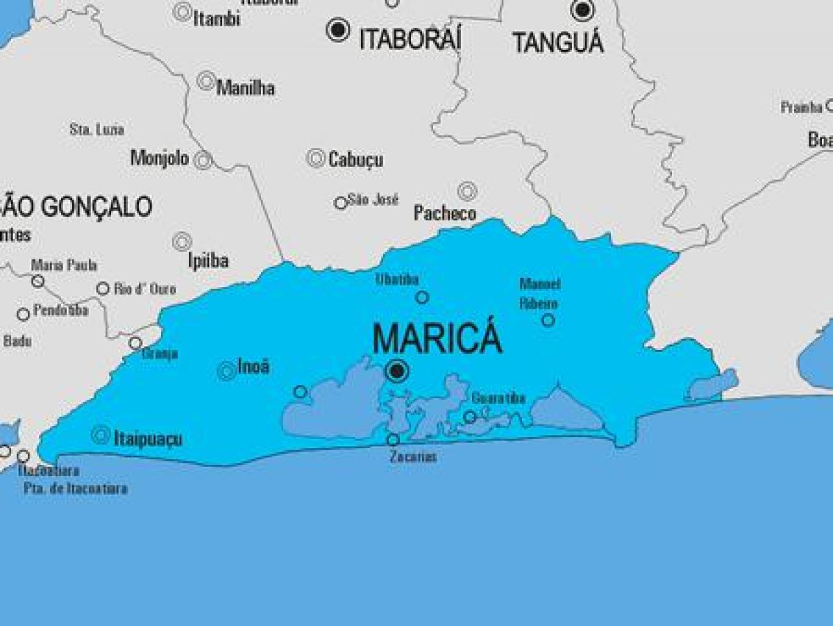 Map of Maricá municipality