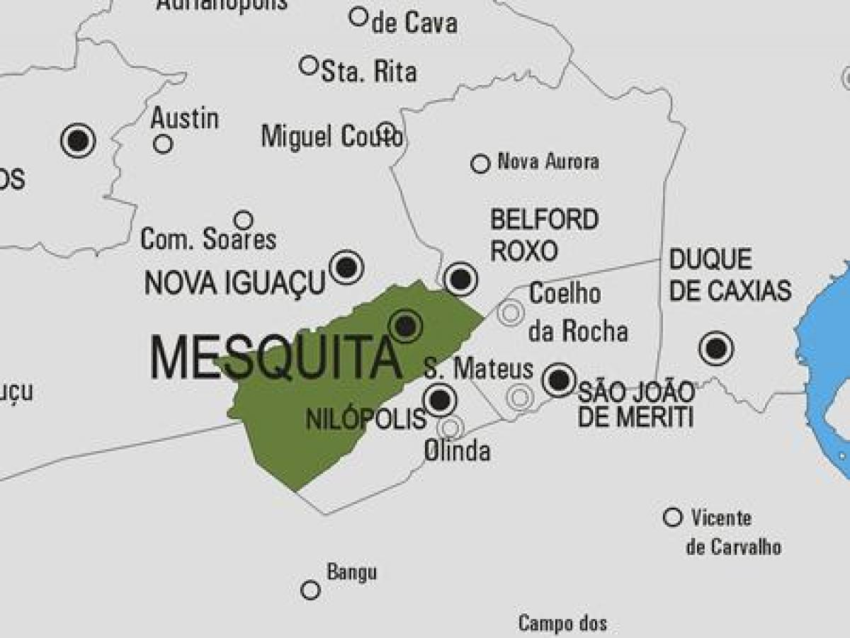 Map of Mesquita municipality