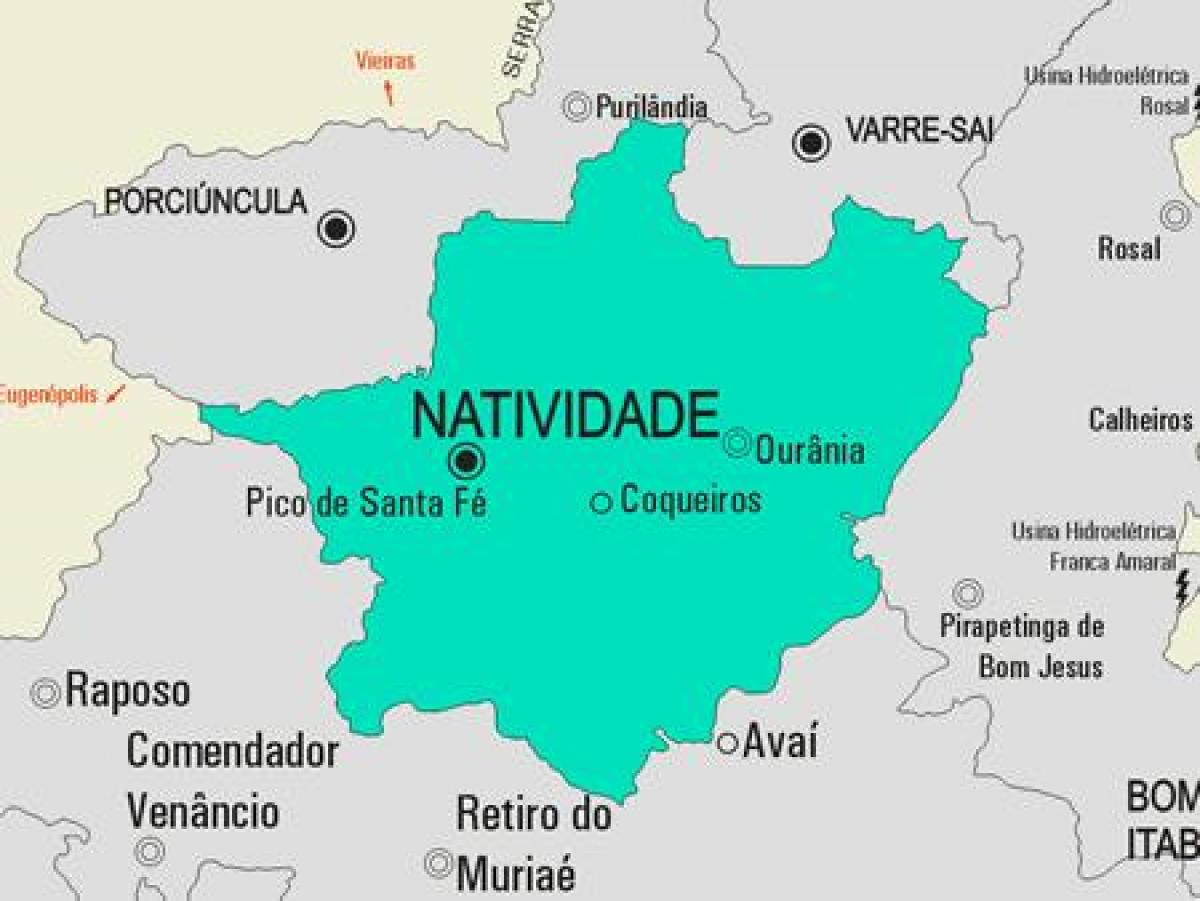 Map of Natividade municipality