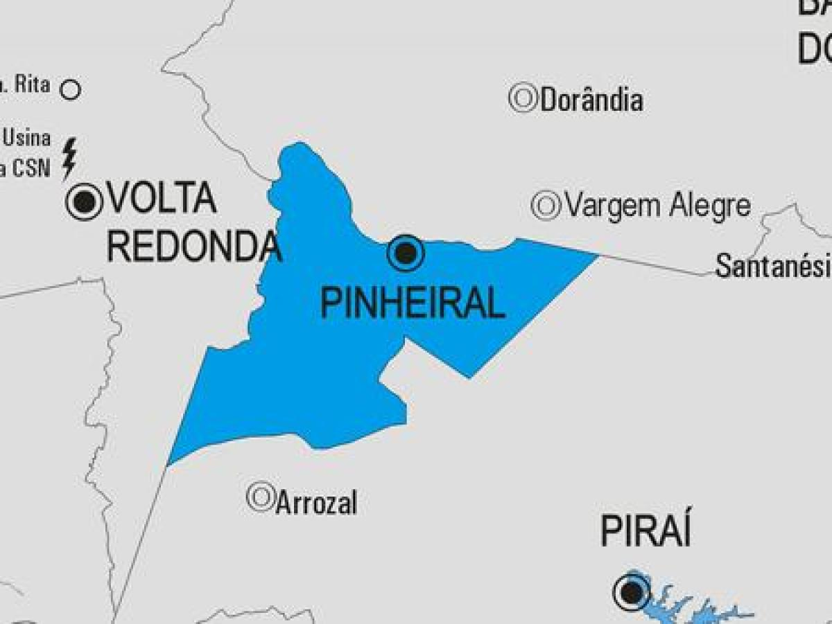 Map of Pinheiral municipality