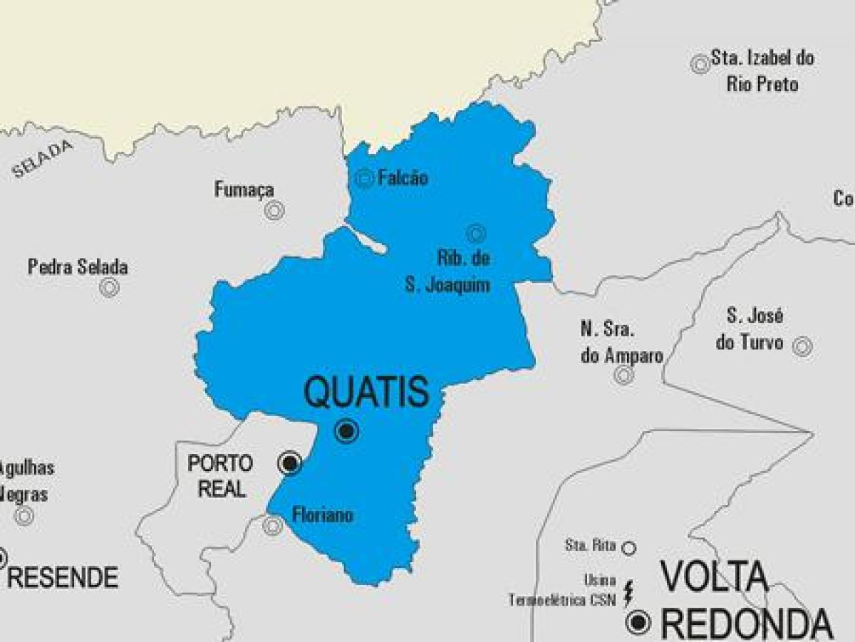 Map of Quatis municipality