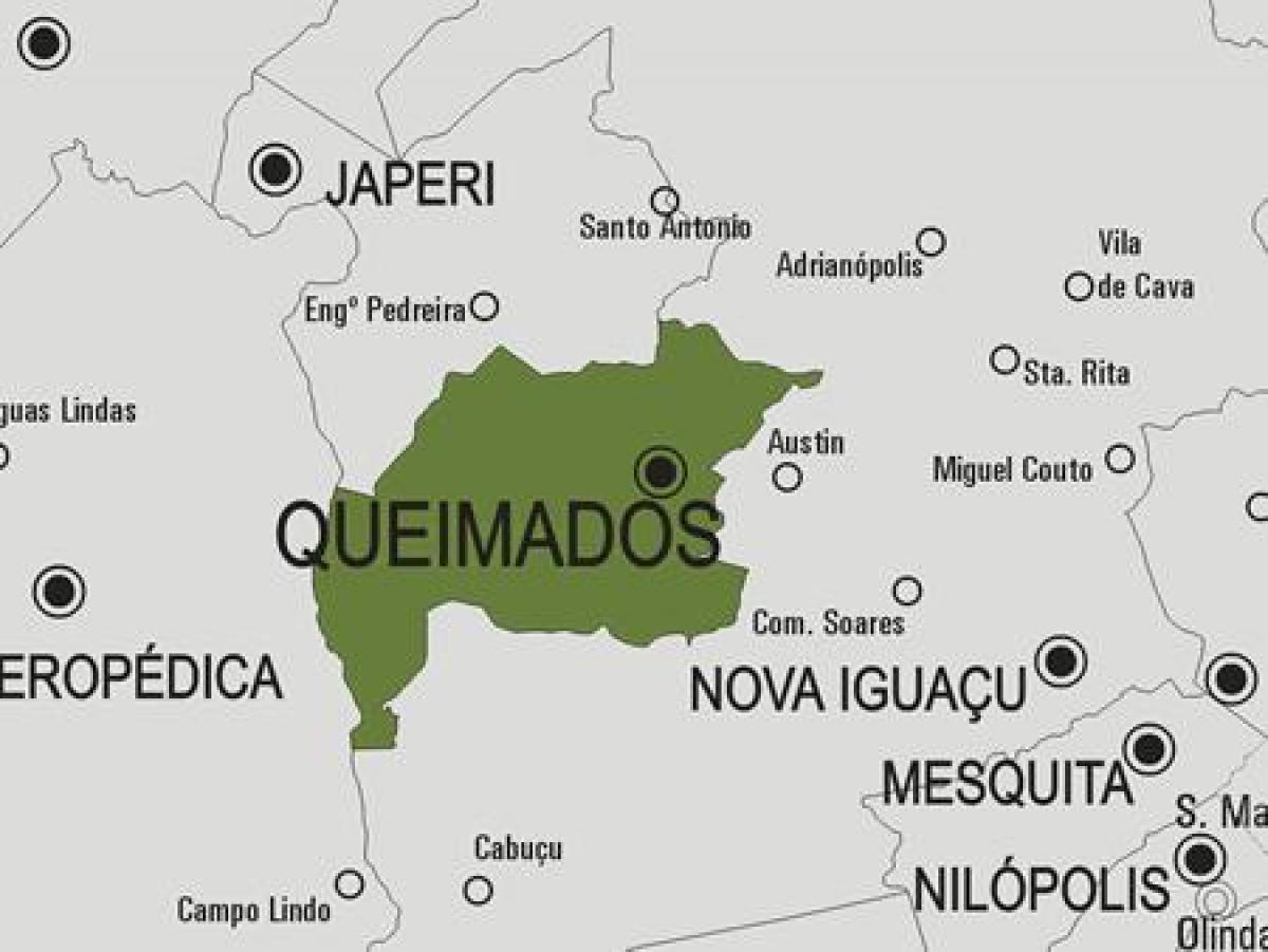 Map of Queimados municipality