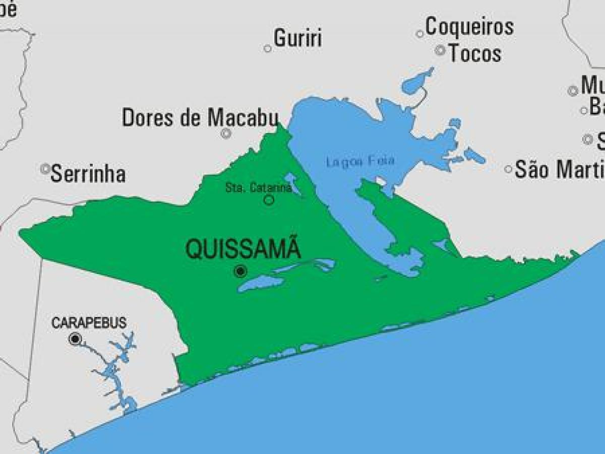 Map of Quissamã municipality