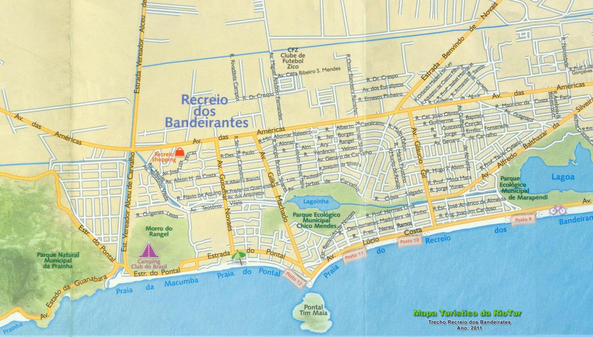 Map of Recreio beach