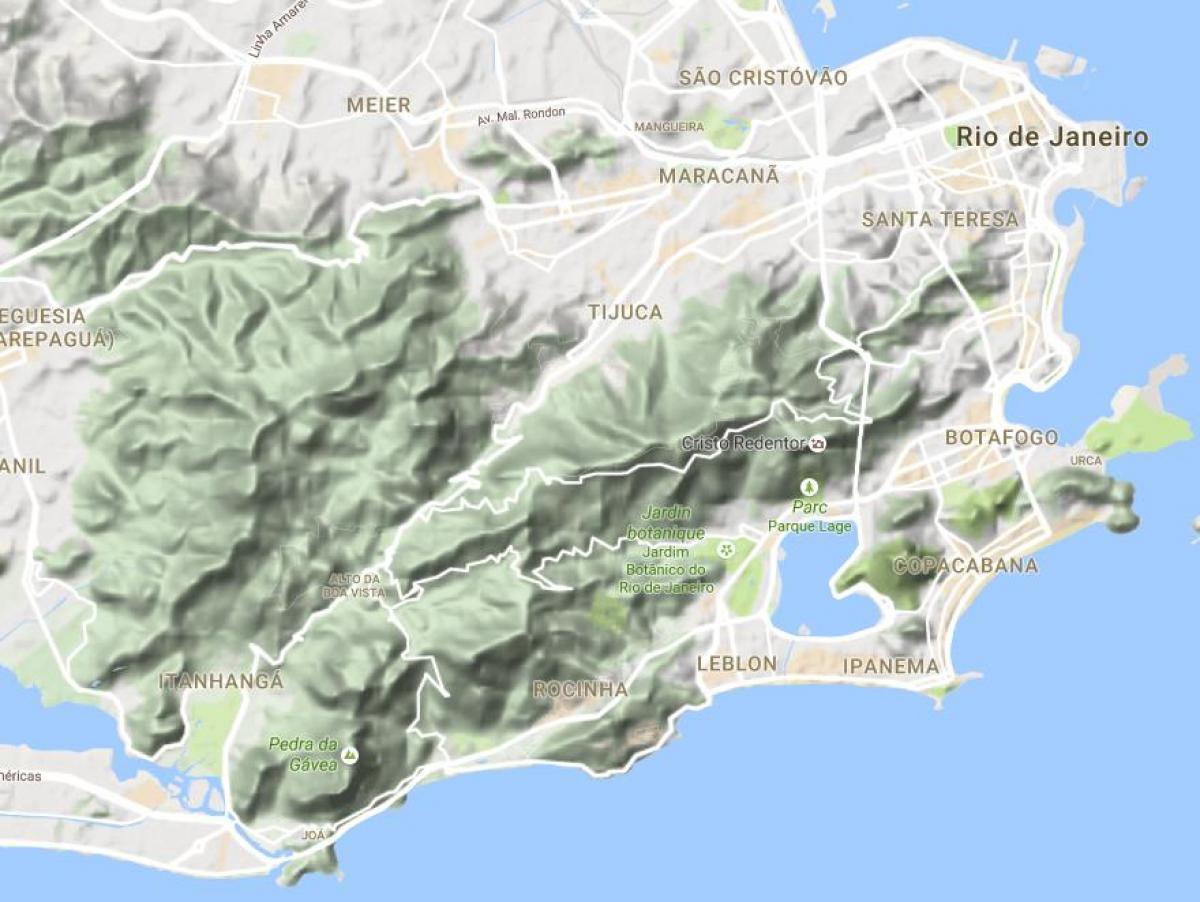 Relief Rio de Janeiro map Map of relief Rio de Janeiro Brsil
