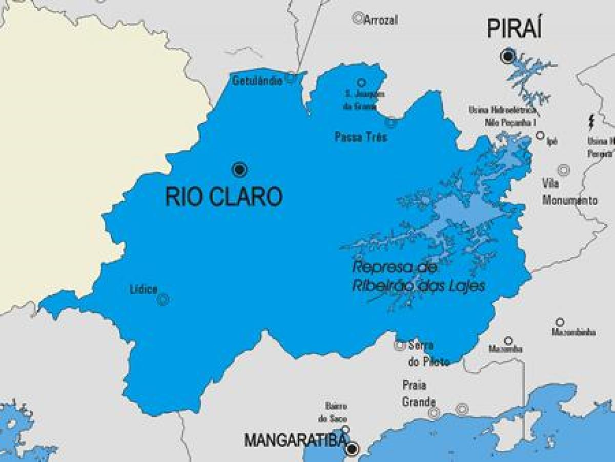 Map of Rio Claro municipality