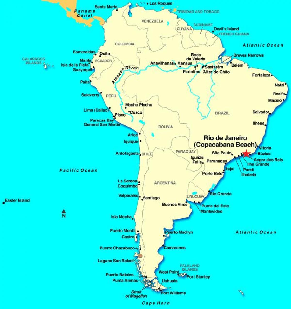 Rio De Janeiro In South America Map Map Of Rio De Janeiro In - Rio de janeiro map