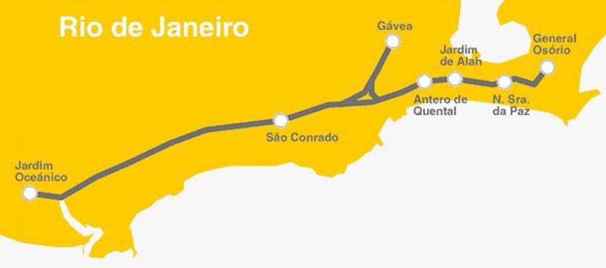 Rio de Janeiro metro Line 4 map Map of Rio de Janeiro metro