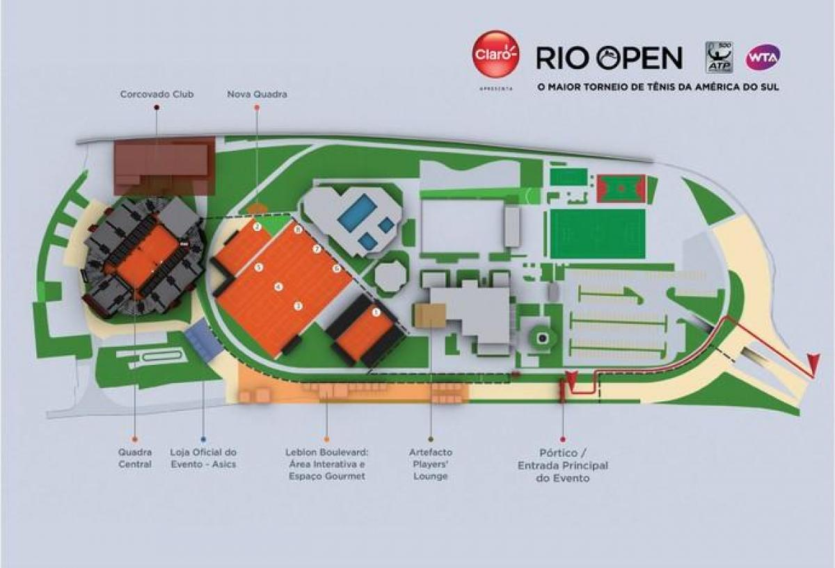 Map of Rio Open