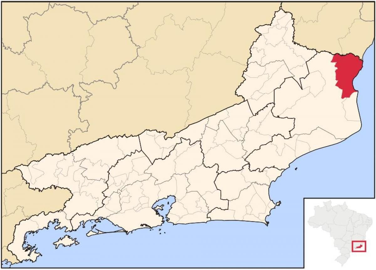 Map of São Francisco de Itabapoana
