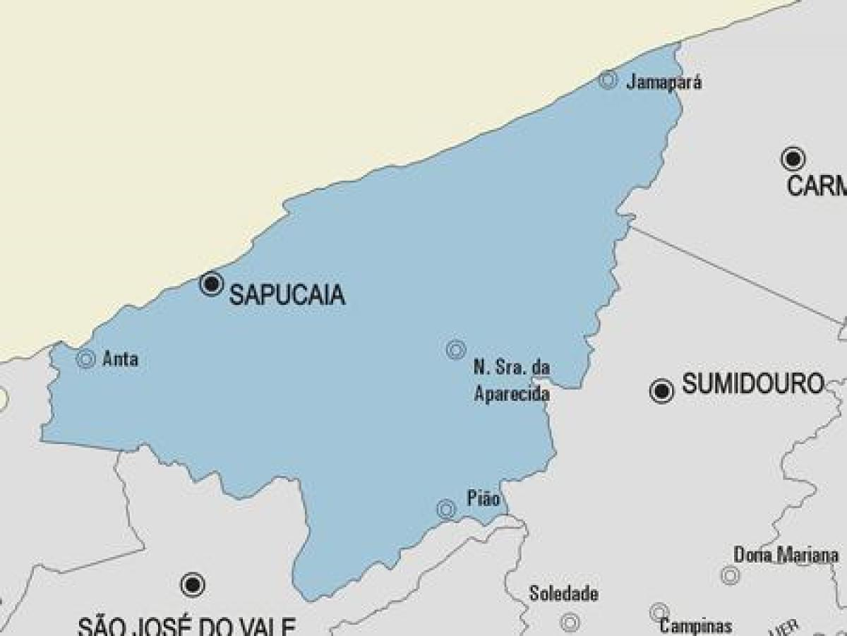 Map of Sapucaia municipality