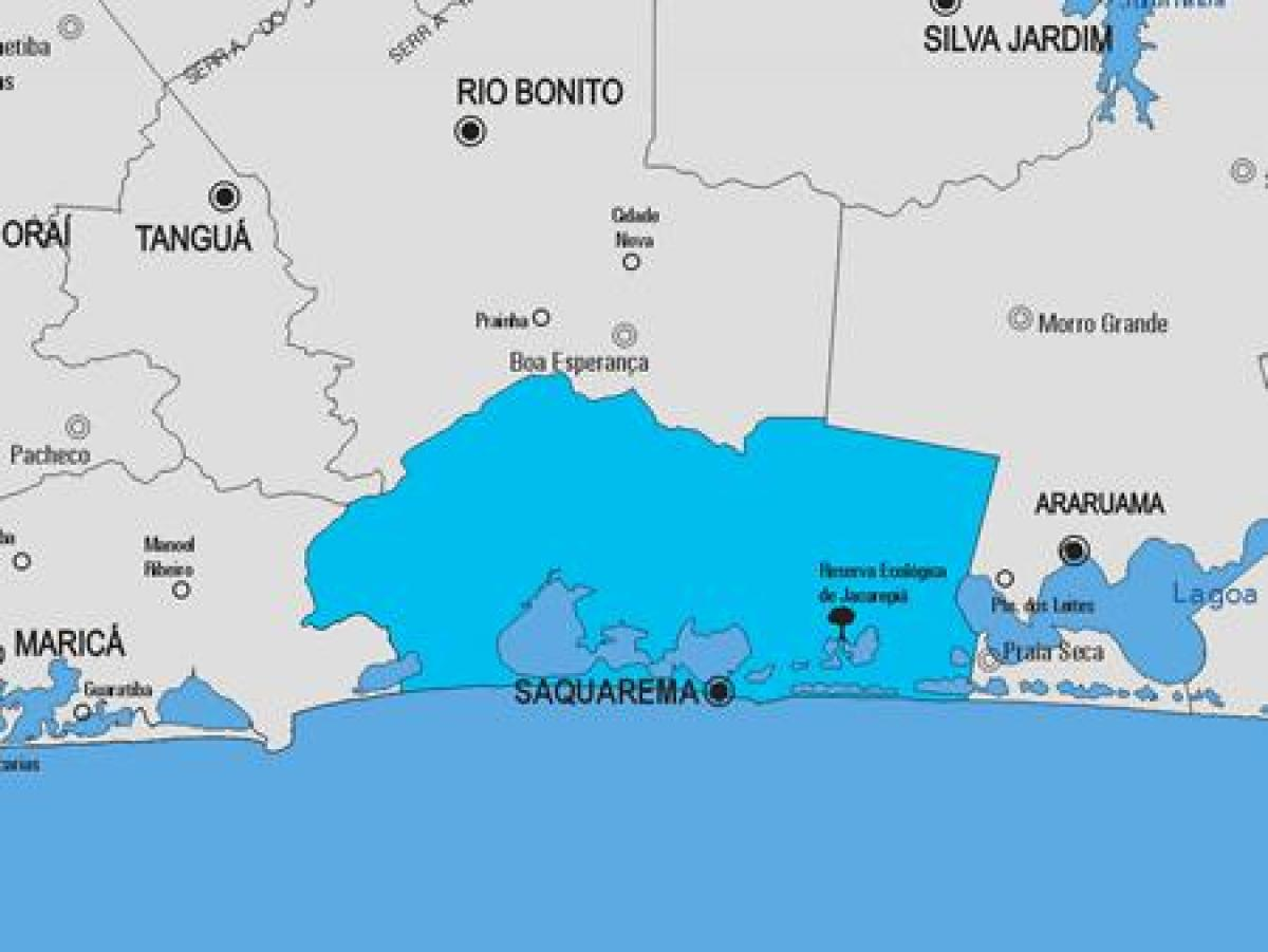 Map of Saquarema municipality