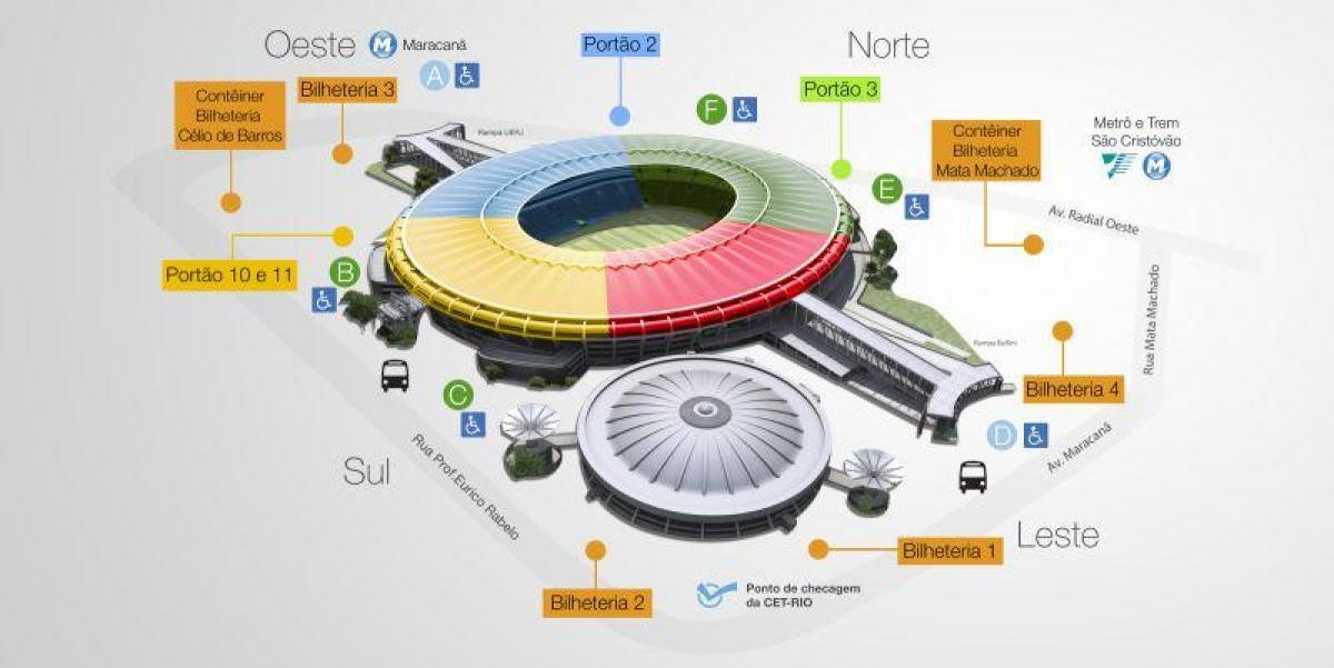 Map of stadium Maracana