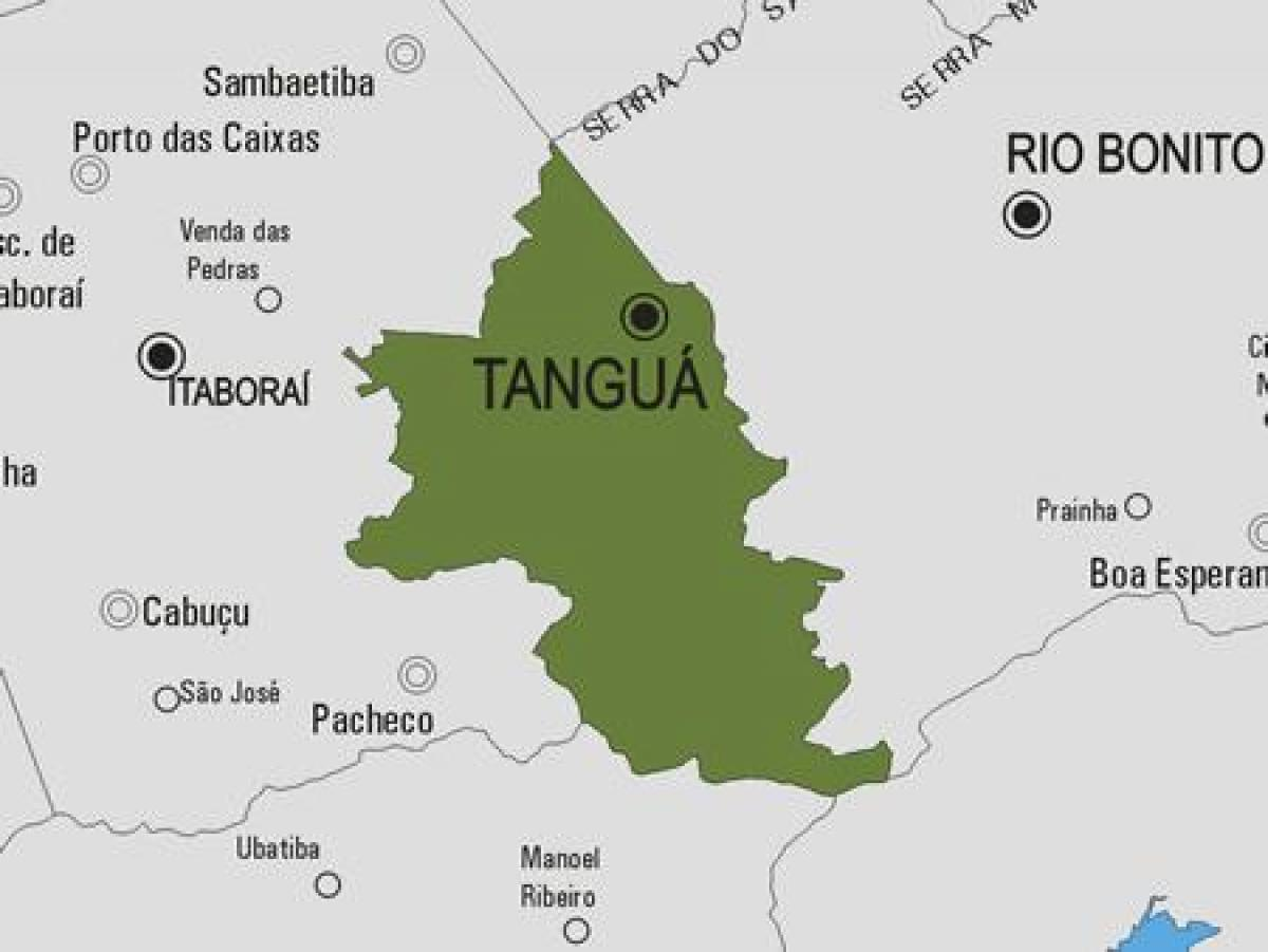 Map of Tanguá municipality