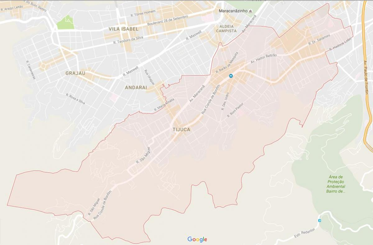 Map of Tijuca