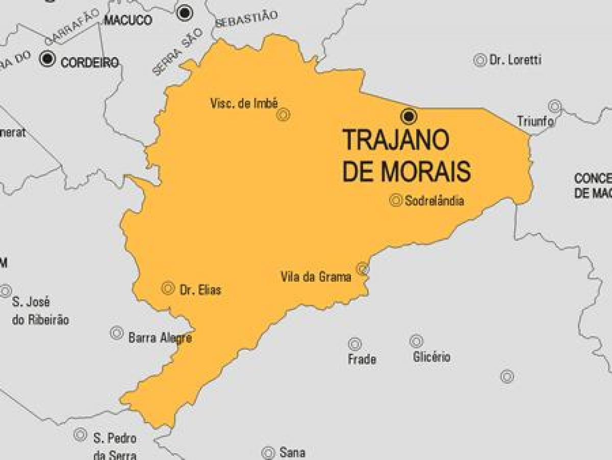 Map of Trajano de Morais municipality