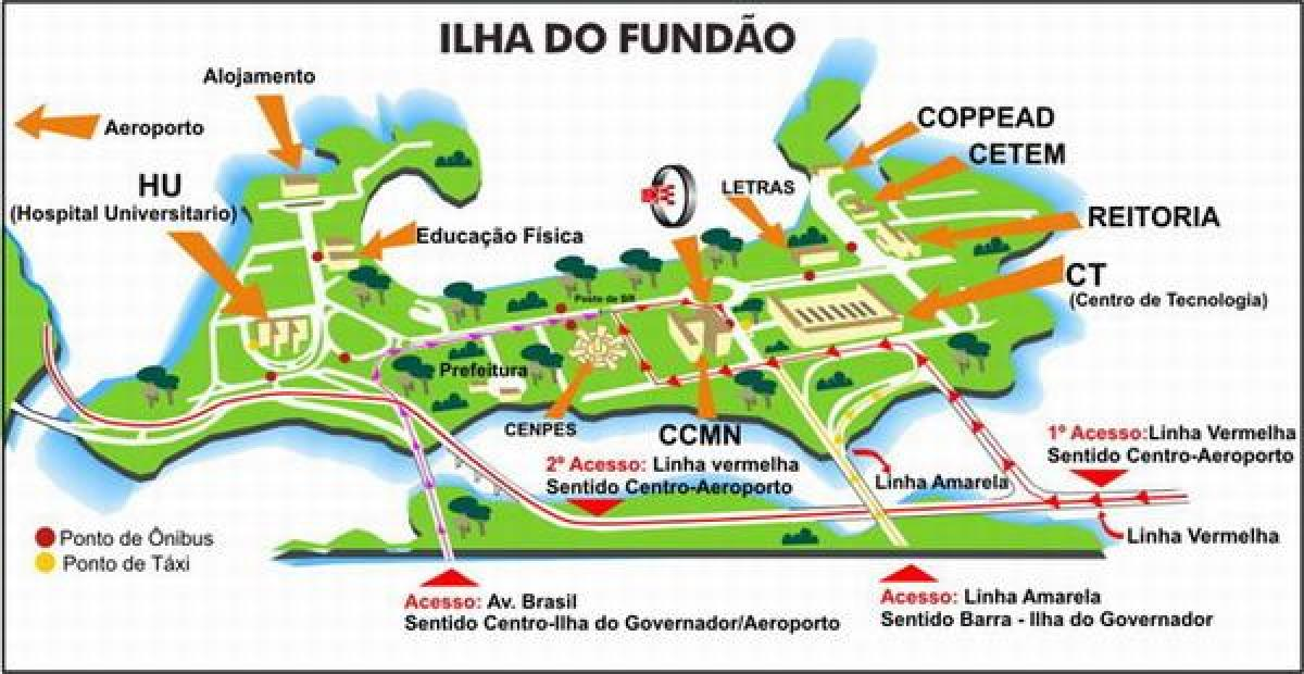 Map of UFRJ