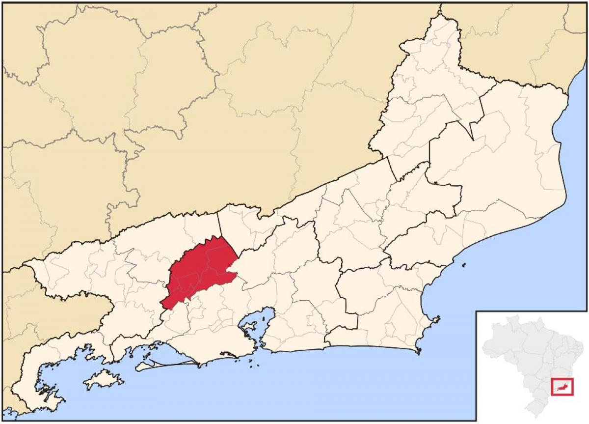 Map of Vassouras