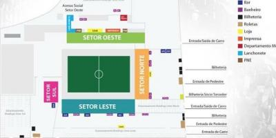 Map of Arena Botafogo