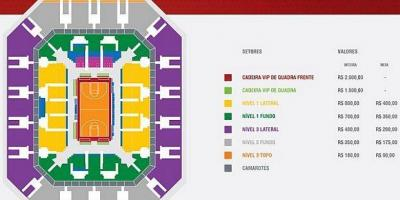 Map of Arena HSBC