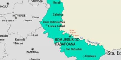 Map of Bom Jesus do Itabapoana municipality