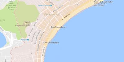 Map of Copacabana