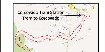 Map of Corcovado train