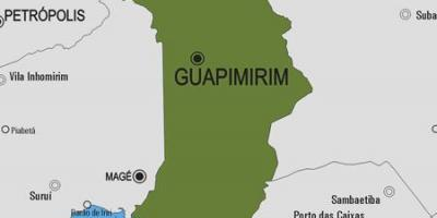Map of Guapimirim municipality