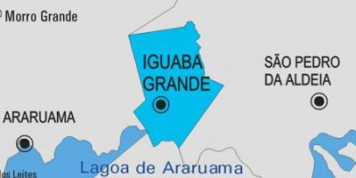 Map of Iguaba Grande municipality