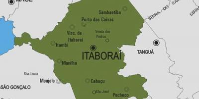Map of Itaboraí municipality