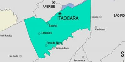 Map of Itaocara municipality