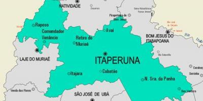 Map of Itaperuna municipality