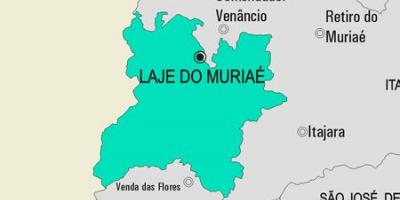 Map of Laje do Muriaé municipality