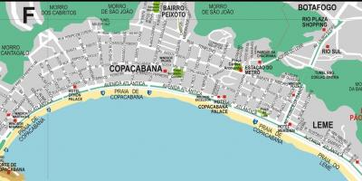 Map of Leme beach