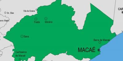 Map of Macaé municipality