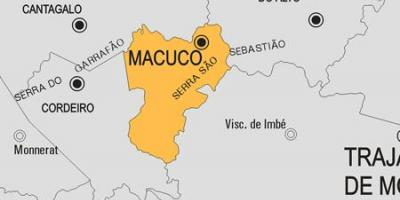 Map of Macuco municipality