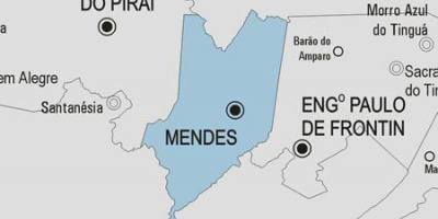 Map of Mendes municipality